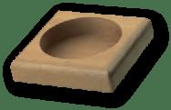 base quadrata legno